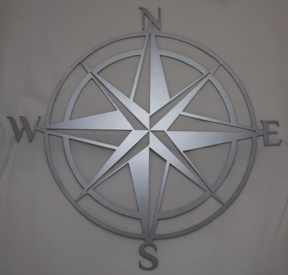 Hand drawn & laser cut metal wall art nautical by StagArtwork