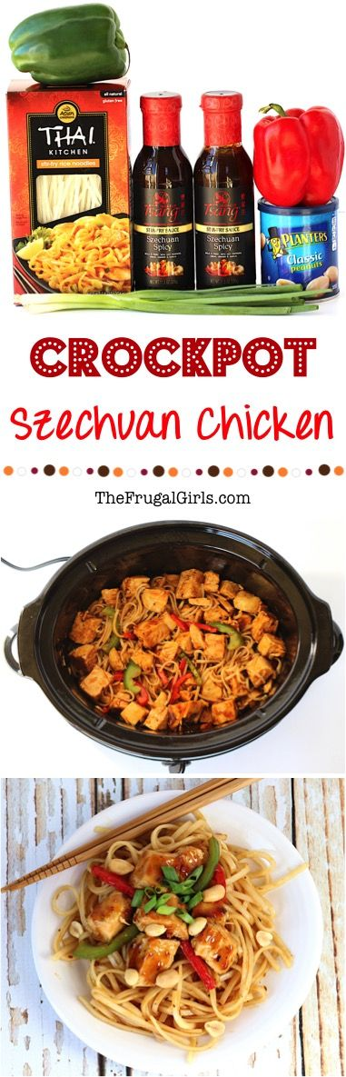 Crockpot Szechuan Chicken Recipe! ~ from TheFrugalGirls.com ~ this EASY Crock Pot meal is full of delicious Asian flavors, and the perfect addition to your dinner menu this week! #slowcooker #recipes #thefrugalgirls