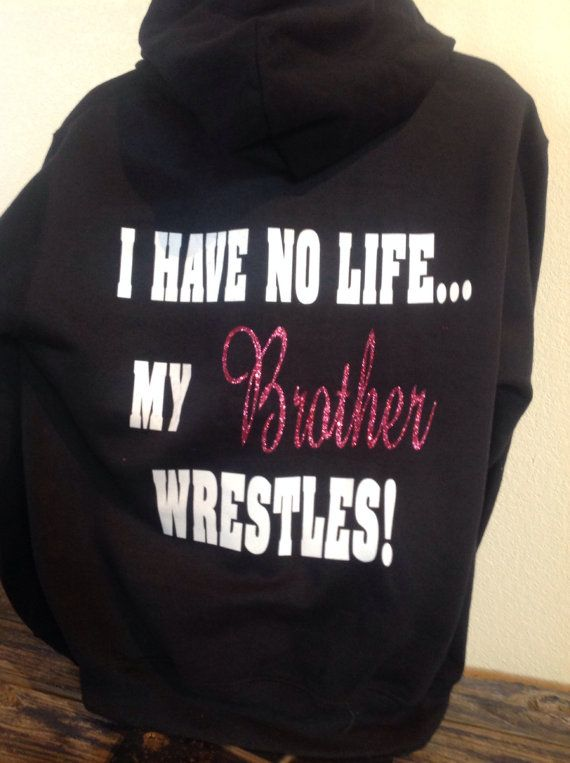 Wild About Wrestling Hooded Youth  Sweatshirt by TripleMEmbroidery, $30.00