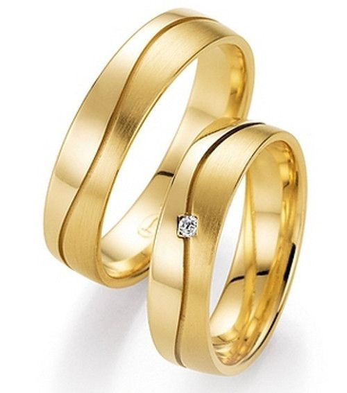 custom tailor Elegant Jewelry yellow Gold Plating titanium engagement wedding bands rings sets for him and her ladies