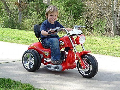 Toy Ride On Red Hawk Motorcycle 12v Battery Powered 3 wheels  Product…