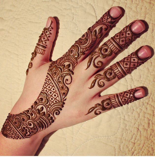 arabic mehndi design back hand bail