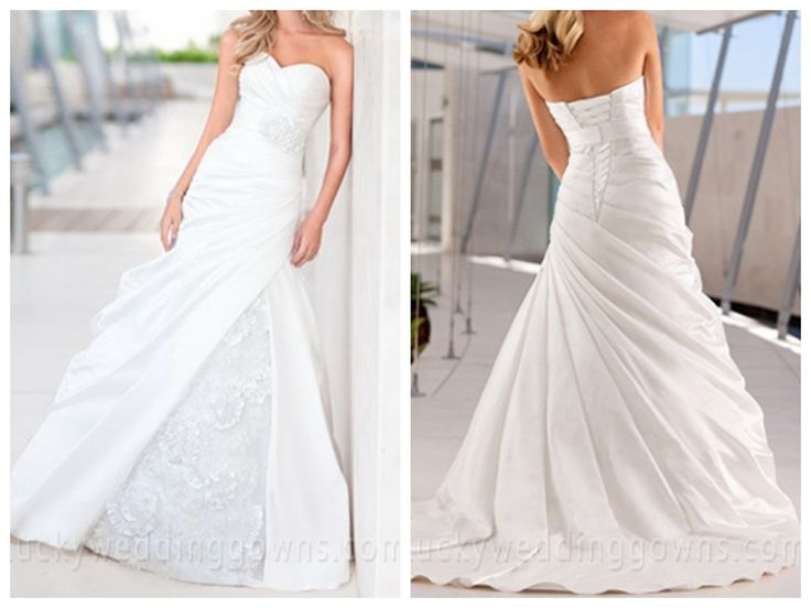 Sweetheart Satin Wedding Dress with Soft Organza accents Detachable Belt