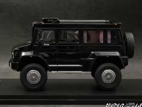 Mercedes Unimog Wagon U5000 black 1 43 GLM