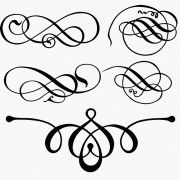 Decorative Flourishes 3 - several files to download for FREE