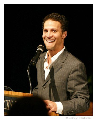 Justin Guarini as key note speak at Central Bucks East H.S. His alma mater.  Photo by Jerry Hankins
