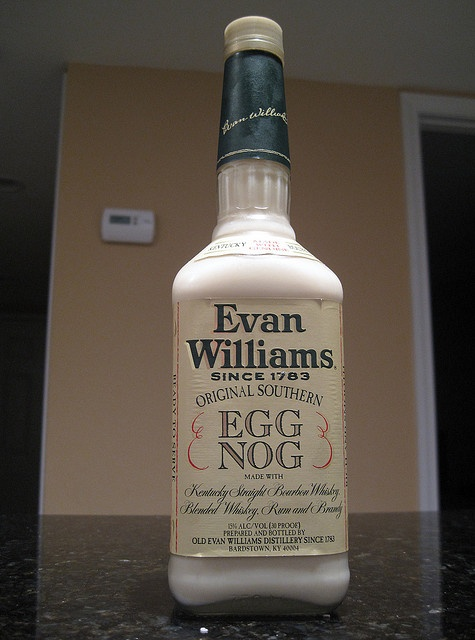 Evan Williams Egg Nog --good spiked eggnog  Every Christmas my dad would have us toast the holidays with a small glass of Evan Williams. A memory I will forever cherish .