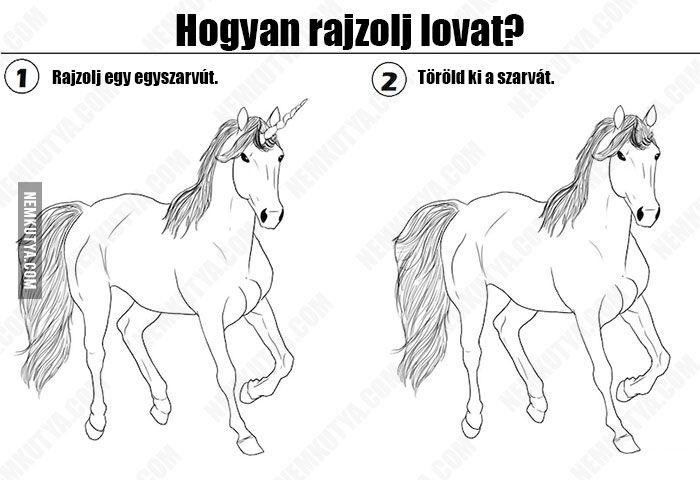 Hogyan rajzolj lovat