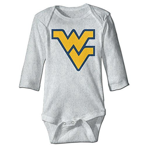OOKOO Baby's University Of West Virginia Bodysuits Ash 24 Months -- You can get more details at