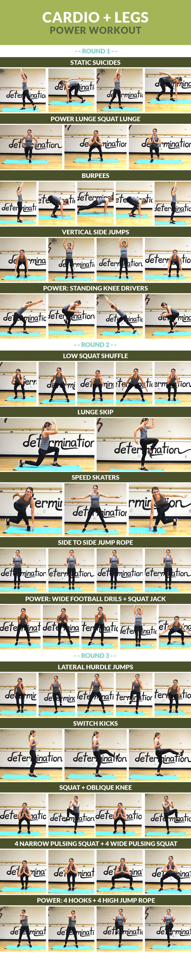 Cardio + Legs Power Workout - Get your sweat on while shaping your lower body!