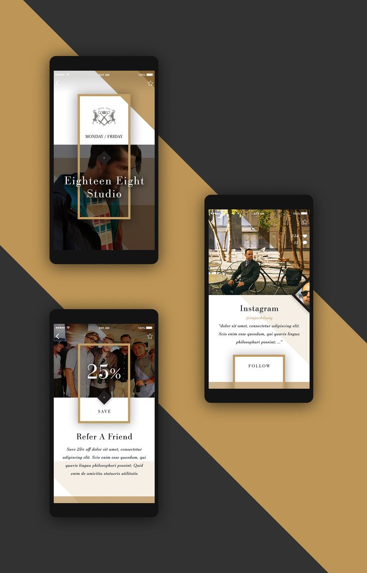 All Gold Evetuthing – Ui design concept for mobile app by Elegant Seagulls.
