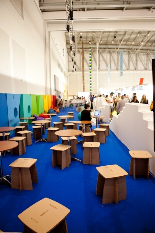 Xanita Board furniture used at Design Indaba 2012 at the CTICC in Cape Town