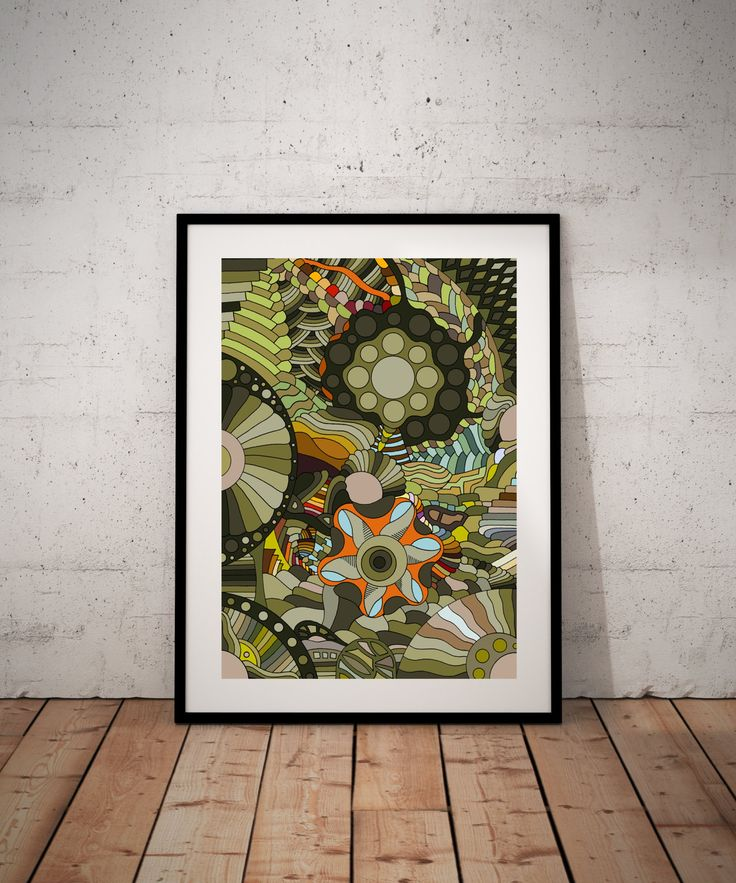 Abstract design,Psychedelic art,Art poster, Modern art decor, Home decor, Wall art, Digital processing,Digital performance by WhitePaperArt on Etsy
