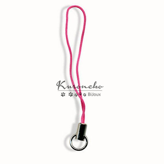 10 phonestraps laccetto cellulare colore rosa di KuronekoBijoux