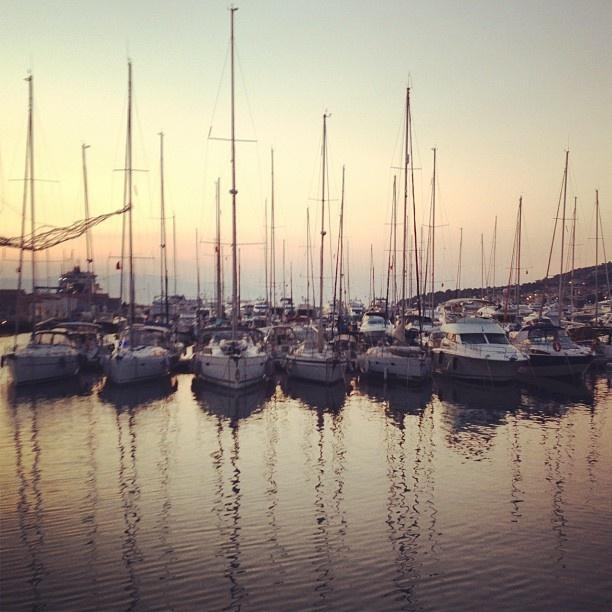 fabulous sunset at Cesme Marina