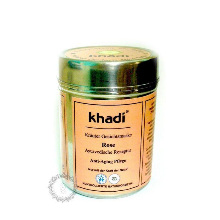 Khadi bylinná pleťová MASKA RŮŽE - proti stárnutí pleti | Khadí, přírodní kosmetika z Indie