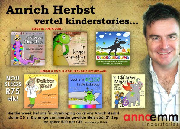 Anrich Herbst lees Anna Emm se stories. Hierdie week op special vir R75!!! #afrikaans #luisterstories