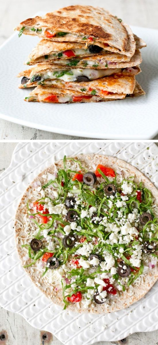 Greek Quesadillas | Click Pic for 30 Easy Vegetarian Recipes for Kids for Dinner | Quick and Easy Healthy Meals on a Budget