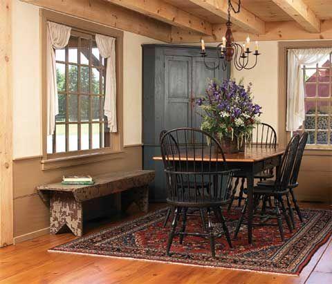 New England Farmhouse Dining Room Design Ideas