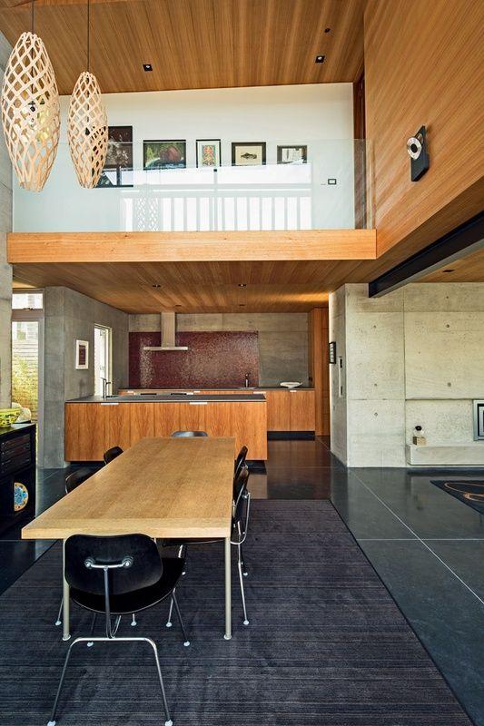 Coxs Bay House, Auckland | Architecture Now Hinaki pendant lights by @davidtrubridge