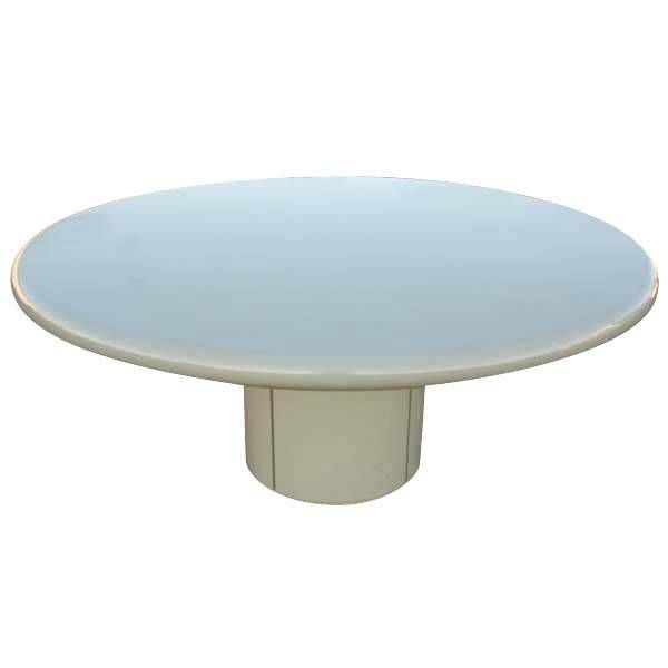 Large Round Composition Indoor Outdoor Dining Table