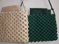 Tutorial for making Macrame bags and purses!                                                                                                                                                                                 More