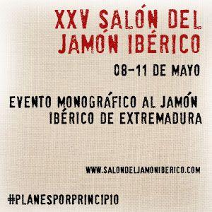 XXV SALÓN JAMÓN IBÉRICO EXTREMADURA. El Salón del Jamón Ibérico es un certamen consolidado, cumpliendo un cuarto de siglo de existencia, y con más de 30.000 visitantes que durante los días de la muestra (del 08 al 11 de mayo), visitan el recinto ferial en Jerez de los Caballeros (Extremadura). http://blog.porprincipio.com/el-jamon-tiene-su-propia-feria-pero-en-badajoz/#more-1263