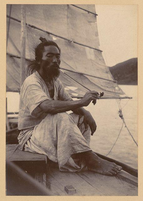korean boatman - 1904. excellent hemp clothes