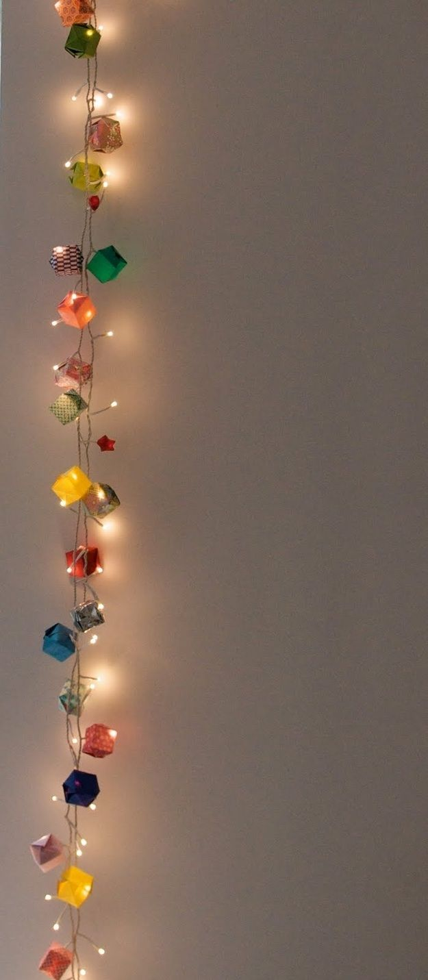 How To String Lights On A Christmas Tree Pinterest : DIY string Christmas lights party & gift Pinterest
