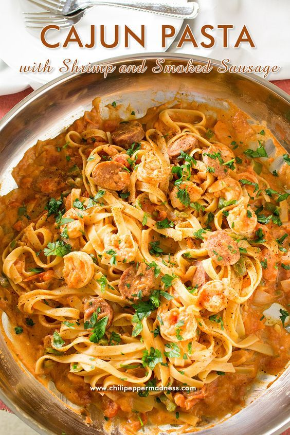 Cajun Pasta with Shrimp and Smoked Sausage - Love jambalaya? This recipe brings all of your favorite jambalaya flavors and transforms them into a tasty pasta dish.