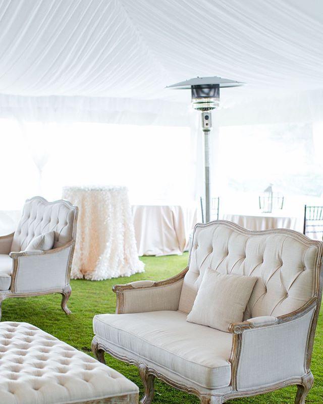 868b7fecfd96 Neutral elegant wedding reception under a draped ceiling tent at Casa Ybel  Resort on Sanibel Island
