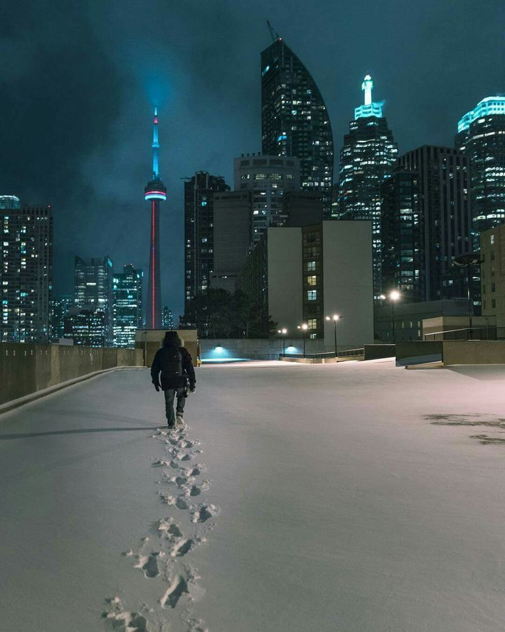 Toronto winter rooftop