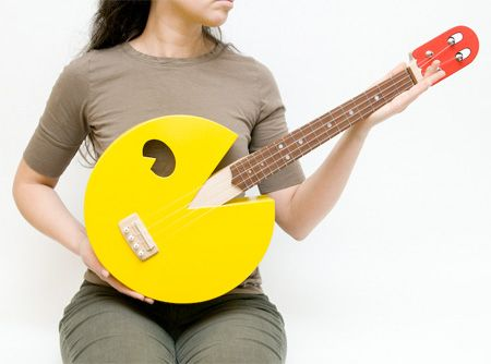 Just when you thought Ukuleles couldn't get any coolerGeek, Stuff, Music Instruments, Pac Man, Awesome, Pacman Guitar, Things, Products, Pacman Ukulele
