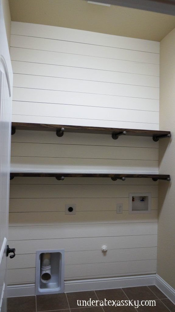 Shiplap Wall Accent Laundry Room Makeover Laundry Room Design Laundry Room Remodel