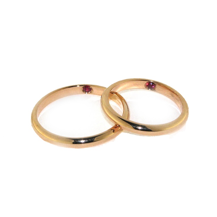 18 kt Rose Gold with internal ruby