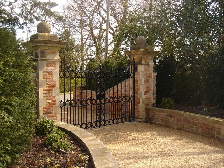 Brick Entrance Gates Google Search Gates Amp Fences