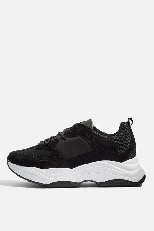 ba3bd20bc3 Ciara Monochrome Chunky Trainers - New In Shoes - New In - Topshop USA