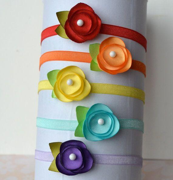 Diadema de Satén Petite y Clip  perfecto para los bebés y