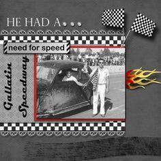 Image result for scrapbook layout images drag car racing