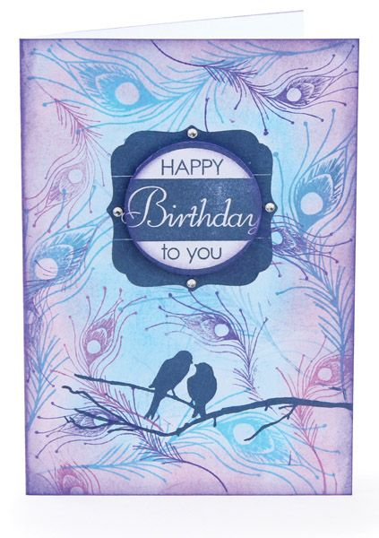MT572 Boho Blended Feathers Card
