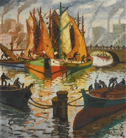 Veleros al sol (1944) Benito Quinquela Martín