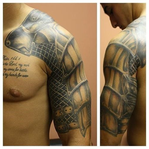 20 Amazing Armor Tattoos for Men (3) | Tattoos for Men ...