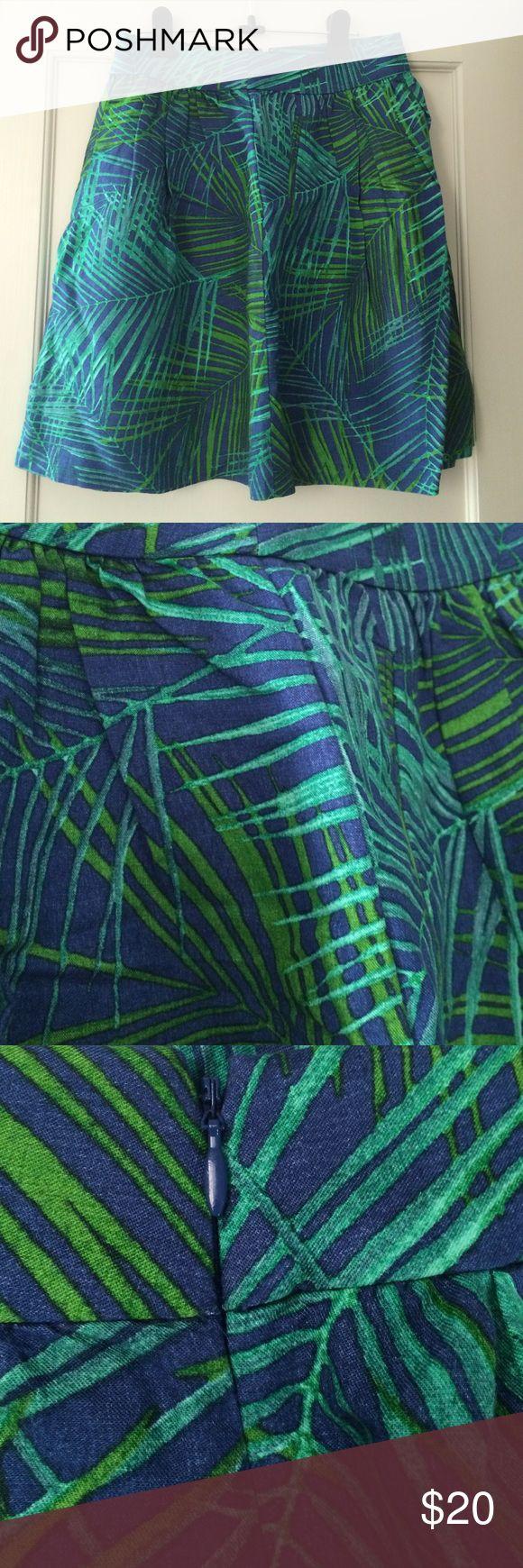 Banana Republic Patterned A-Line Skirt Blue and green patterned A-Line Skirt from Banana Republic Banana Republic Skirts