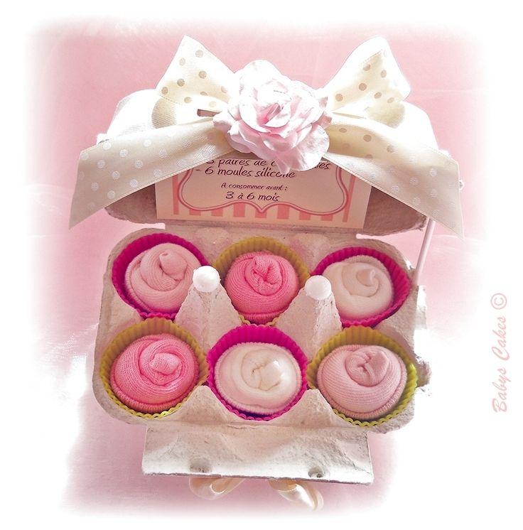 Chaussettes bébé Socks cupcakes - Cadeau de naissance Babys Cakes