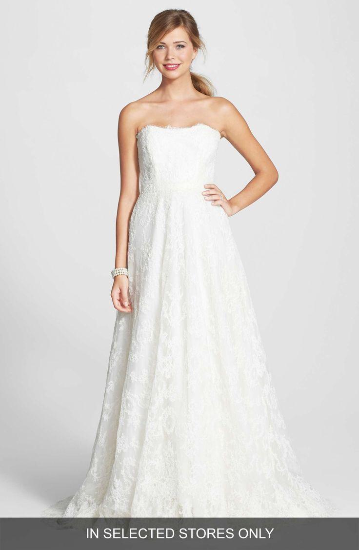 Lisa robertson in wedding dress - Bliss Monique Lhuillier Lace A Line Dress