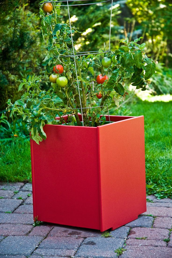 best outdoor planter boxes images on pinterest  planter boxes  - mondo garden planter available in multiple sizes and  colors the moderngarden planter