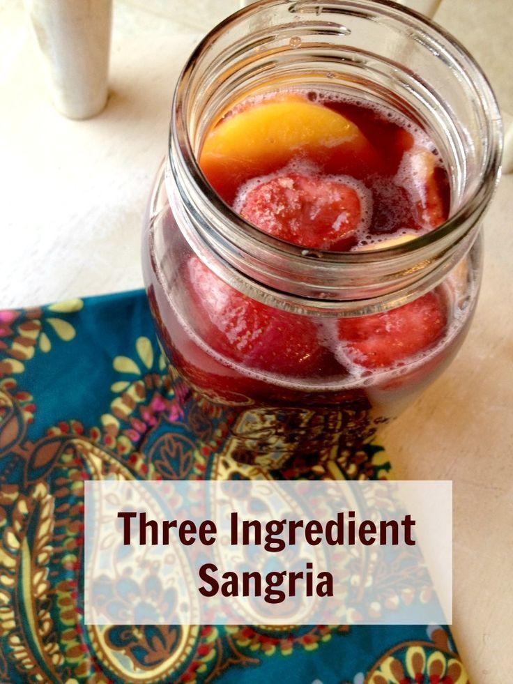 Three ingredient Sangria Recipe. Yum