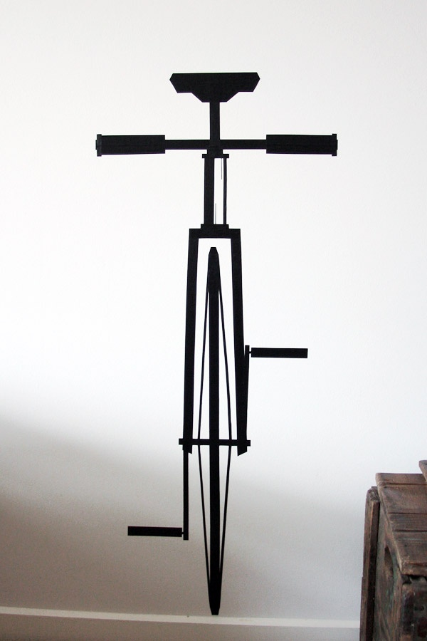 More!  Electrical Tape Wall Art Fixie