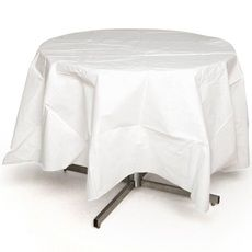 White Better Than Linen™ Octy-Round Tablecover    Item # G40600    White Better Than Linen™ Octy-Round Tablecover looks and feels like linen, yet is affordable and convenient for your budget! Made of high-quality, disposable Airlaid tissue that features a woven, textured appearance. White Better Than Linen™ Octy-Round Tablecover measures 82 in. diameter  $8.99                                                 Item #             G40600                    ...