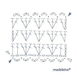 かぎ針編みのストール・編み図   madeleine's blog
